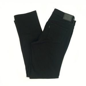 Levi's 314 Shaping Straight Black Jeans 10/30 NWOT